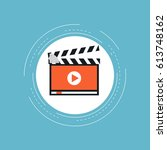 vlogging  video marketing and... | Shutterstock .eps vector #613748162
