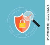 internet security flat vector... | Shutterstock .eps vector #613748276