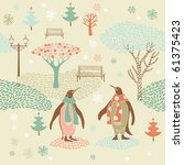 winter christmas pattern with... | Shutterstock .eps vector #61375423