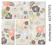 set of business card template... | Shutterstock .eps vector #613757072