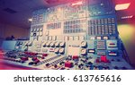 control room of an old power... | Shutterstock . vector #613765616