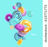 multicolored decorative rings.... | Shutterstock .eps vector #613771775