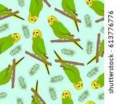 summer vector seamless pattern... | Shutterstock .eps vector #613776776
