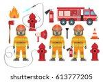 Set Of Fire Equipment. Vector...
