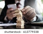 planning  risk and strategy of... | Shutterstock . vector #613779338