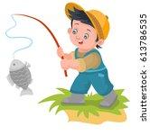 illustration of cartoon boy...   Shutterstock .eps vector #613786535