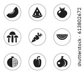 set of 9 editable dessert icons....