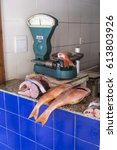 Small photo of Salvador, Brazil - October 27, 2016: fish for sale near of Yemanja temple in Salvador Brazil