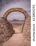 stone gate at pukara de quitor  ... | Shutterstock . vector #613804292