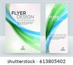 vector business brochure or... | Shutterstock .eps vector #613805402