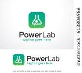 power lab logo template design... | Shutterstock .eps vector #613806986