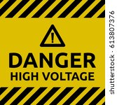 high voltage sign | Shutterstock .eps vector #613807376
