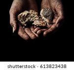 hands of beggar. poverty concept | Shutterstock . vector #613823438