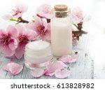 natural cosmetics  fresh as...   Shutterstock . vector #613828982