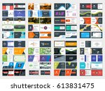 collection of double sided... | Shutterstock .eps vector #613831475