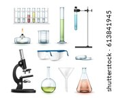 vector set of chemical... | Shutterstock .eps vector #613841945