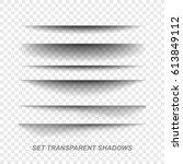 .vector realistic shadows... | Shutterstock .eps vector #613849112