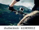 Small photo of Action Camera Mounted On Mountain Bike
