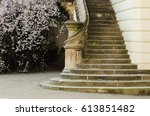 staircase of a castle in prague ...