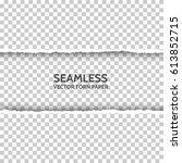 vector seamless torn paper on... | Shutterstock .eps vector #613852715