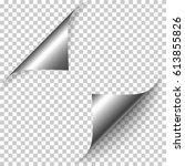 vector realistic silver foil... | Shutterstock .eps vector #613855826