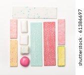 various types of chewing gum | Shutterstock . vector #61386697