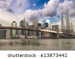 beautiful wideangle view of... | Shutterstock . vector #613873442