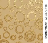 gold vector illustration.... | Shutterstock .eps vector #613873748