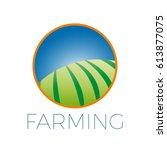 vector sign organic farming ... | Shutterstock .eps vector #613877075