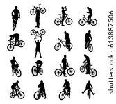 bicycle black set 02 | Shutterstock .eps vector #613887506