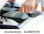 image of auto repair concept | Shutterstock . vector #613889378