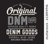 denim typography  tee shirt...   Shutterstock .eps vector #613894946
