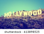 los angeles  usa   april 5 ... | Shutterstock . vector #613898525