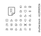 document icon in set on the...   Shutterstock .eps vector #613900526