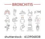 bronchitis. symptoms  treatment.... | Shutterstock .eps vector #613906838