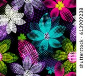 abstract seamless pattern for... | Shutterstock .eps vector #613909238