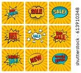 retro sales icon vector card... | Shutterstock .eps vector #613910348
