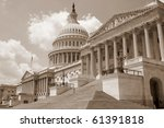 Stock photo us capitol building in sepia 61391818