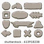 rock interface buttons vector...
