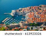 aerial view of dubrovnik old...   Shutterstock . vector #613923326