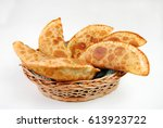 traditional pastry called... | Shutterstock . vector #613923722