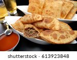 traditional pastry called... | Shutterstock . vector #613923848