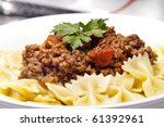 Bow Tie Pasta With Bolognaise...
