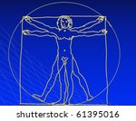 vitruvian man | Shutterstock . vector #61395016