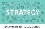 linear flat illustration for... | Shutterstock . vector #613966898