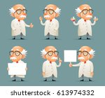 old scientist character icons... | Shutterstock .eps vector #613974332