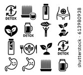 detox  body cleaning with... | Shutterstock .eps vector #613980938