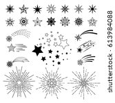 vector hand drawn cartoon stars.... | Shutterstock .eps vector #613984088