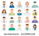 professional doctor avatars... | Shutterstock .eps vector #613984136