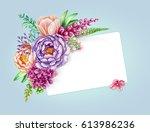 watercolor illustration  pastel ... | Shutterstock . vector #613986236